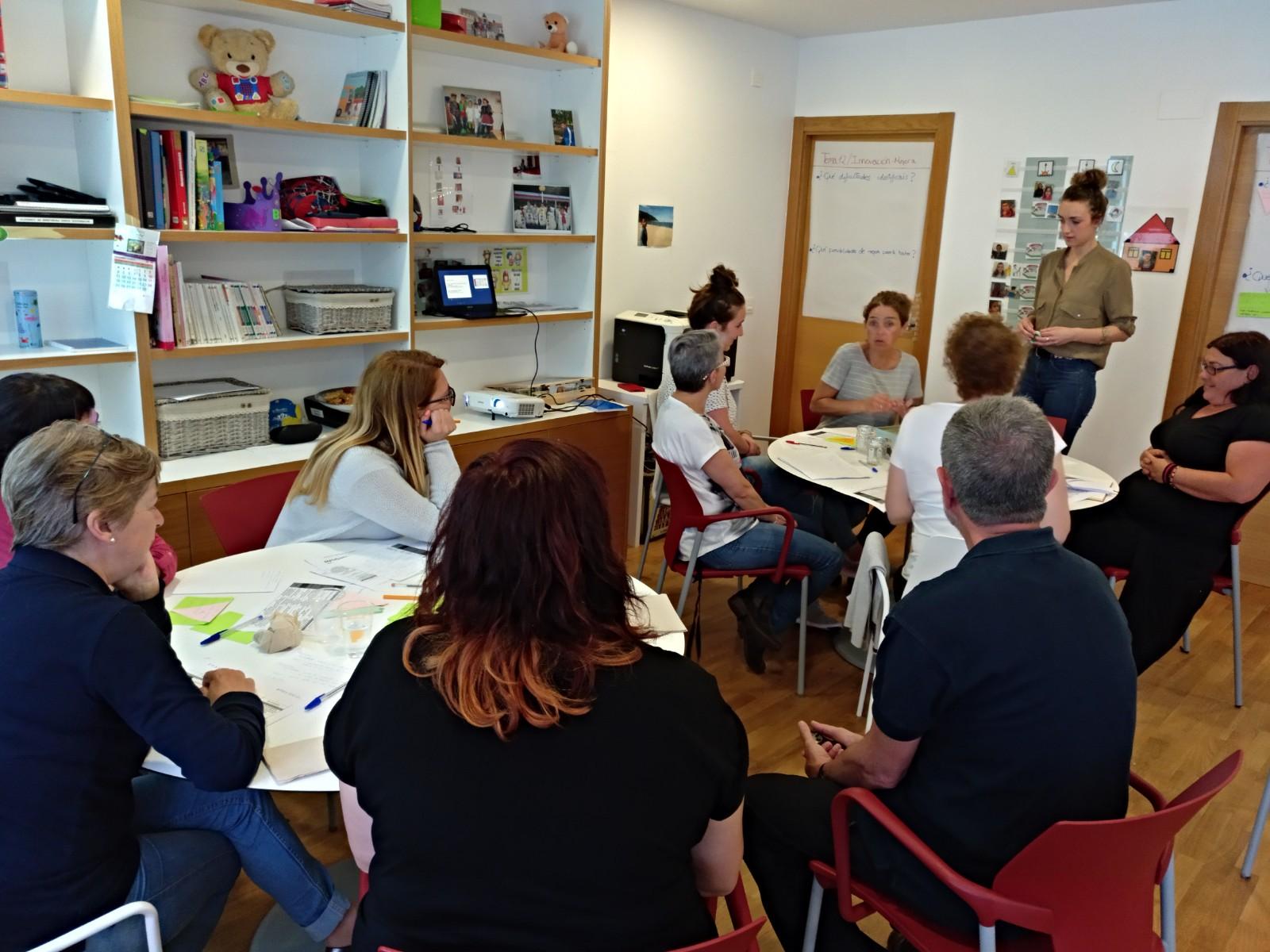 Imagen de una sesión de trabajo Fidegune en Ulitxiki.